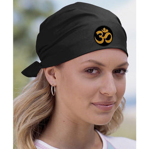 Yoga Bandana - Gold Aum Patch - Yoga Clothing for You - 1