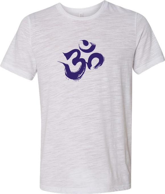 Purple Brushstroke AUM Burnout Yoga Tee Shirt