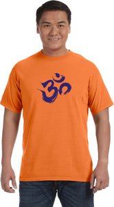 Purple Brushstroke AUM Pigment Dye Yoga Tee Shirt