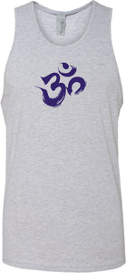 Purple Brushstroke AUM Premium Yoga Tank Top