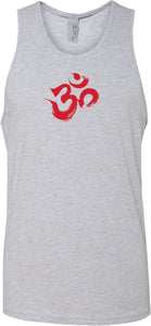 Red Brushstroke AUM Premium Yoga Tank Top