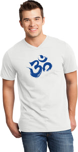 Royal Brushstroke AUM Important V-neck Yoga Tee Shirt