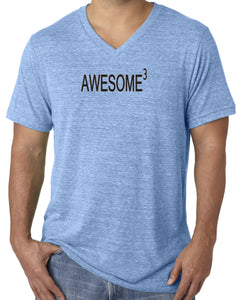 Mens Awesome Cubed V-neck Tee Shirt