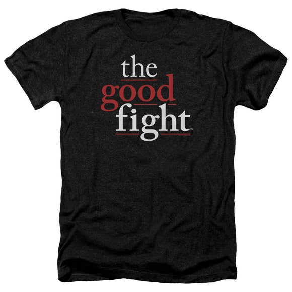The Good Fight Heather T-Shirt Logo Black Tee