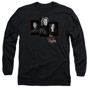 The Good Fight Long Sleeve T-Shirt Cast Headshots Black Tee