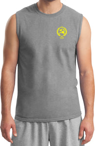 CCCP T-shirt Crest Pocket Print Muscle Tee
