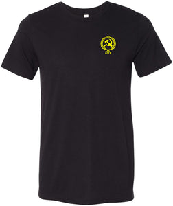 CCCP T-shirt Crest Pocket Print Tri Blend Tee