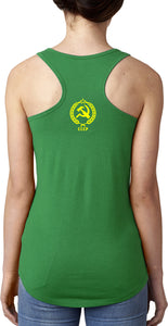 Ladies CCCP Tank Top Crest Back Print Ideal Racerback