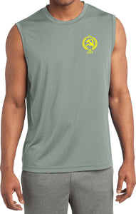 CCCP T-shirt Crest Pocket Print Sleeveless Competitor Tee