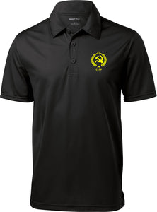 CCCP Polo Crest Pocket Print Textured Shirt
