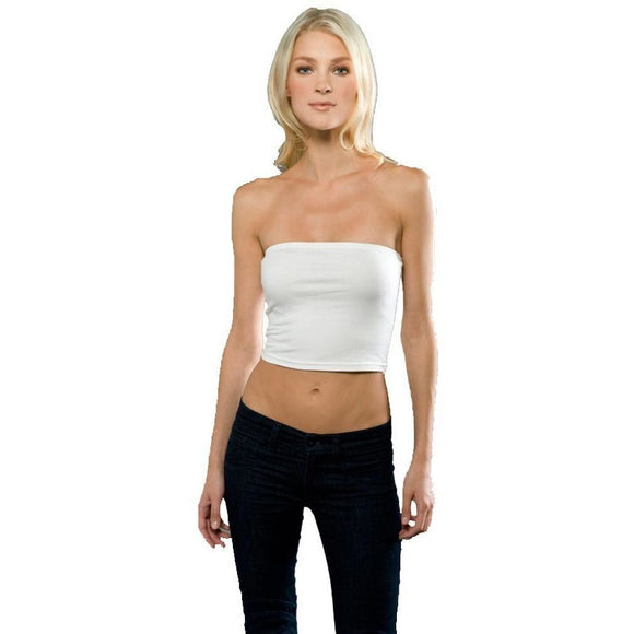 Womens Cotton Spandex Tube Top - Yoga Clothing for You - 1