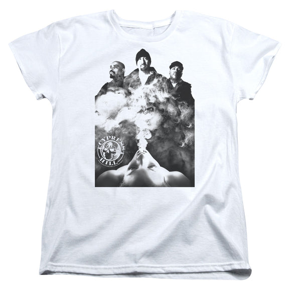 Cypress Hill Womens T-Shirt Smoke White Tee