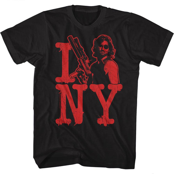 Escape From New York T-Shirt I Snake NY Black Tee