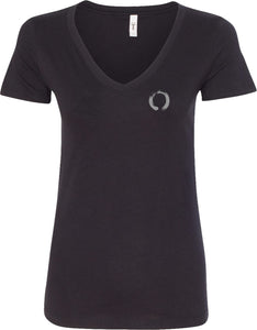 Enso Pocket Print Ideal V-neck Yoga Tee Shirt