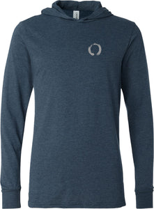 Enso Pocket Print Lightweight Yoga Hoodie Tee Shirt