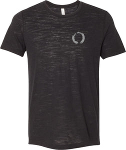 Yoga Clothing For You Enso Pocket Print Burnout Yoga Tee Shirt