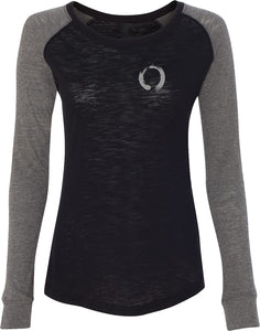 Enso Pocket Print Preppy Patch Elbow Yoga Tee Shirt