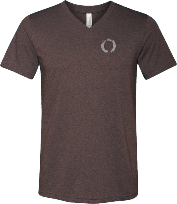 Enso Pocket Print Triblend V-neck Yoga Tee Shirt