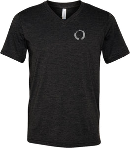 Yoga Clothing For You Enso Pocket Print Triblend V-neck Yoga Tee Shirt