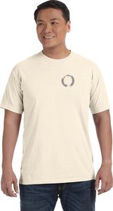 Yoga Clothing For You Enso Pocket Print Pigment Dye Yoga Tee Shirt