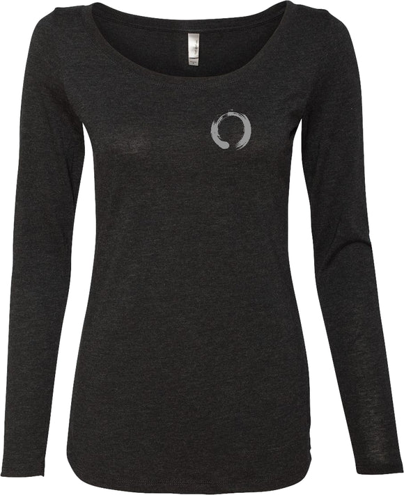 Enso Pocket Print Triblend Long Sleeve Yoga Tee Shirt