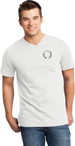 Enso Pocket Print Important V-neck Yoga Tee Shirt