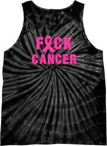 Breast Cancer Tank Top Fxck Cancer Tie Dye Tanktop