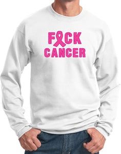 Breast Cancer Sweatshirt Fxck Cancer