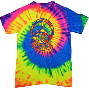 Funky Peace Sign Tie Dye T-shirt