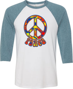 Funky Peace Sign Raglan Shirt