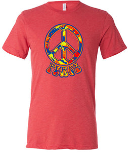 Buy Cool Shirts Peace T-shirt Funky 70's Peace Tri Blend Tee