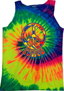 Buy Cool Shirts Peace Tank Top Funky Peace Sign Tie Dye Tanktop