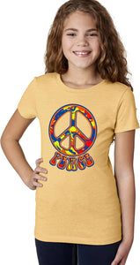 Funky Peace Sign Girls Shirt
