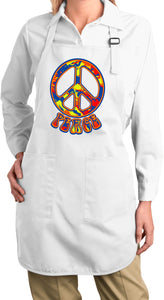 Buy Cool Shirts Funky Peace Sign Ladies Apron