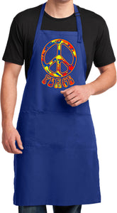 Funky Peace Sign Mens Apron