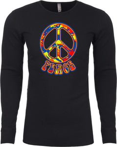 Buy Cool Shirts Funky Peace Sign Thermal Shirt