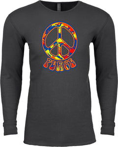 Funky Peace Sign Thermal Shirt