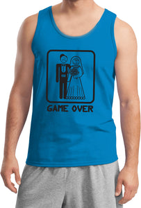 Game Over Tank Top Black Print