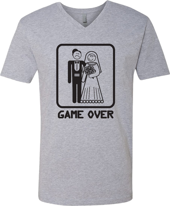 Game Over V-Neck Shirt Black Print