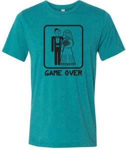 Game Over Tri Blend T-shirt Black Print