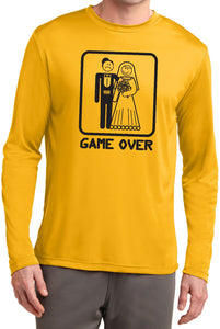 Game Over Moisture Wicking Long Sleeve Black Print