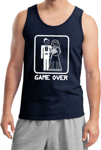 Game Over Tank Top White Print