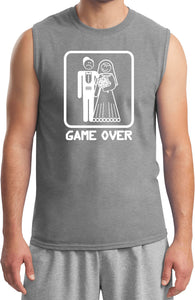 Game Over Muscle Shirt White Print
