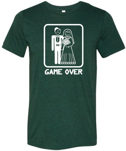 Game Over Tri Blend T-shirt White Print