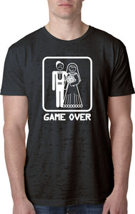 Game Over Burnout T-shirt White Print