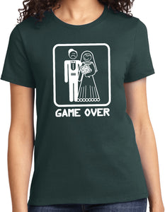 Ladies Game Over T-shirt White Print