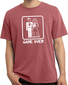 Game Over Vintage T-shirt White Print