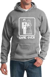 Game Over Hoodie White Print