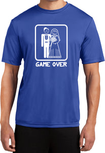 Game Over Dry Wicking T-shirt White Print