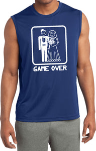 Game Over Sleeveless Shirt White Print